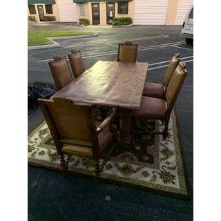 Ralph Lauren Rustic Dining Room Set With Leather Chairs Preview