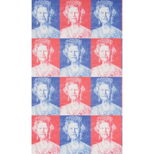 Hunt Slonum for Lee Jofa, Hm Wallpaper Roll, Red/Blue, 10 Yards For Sale