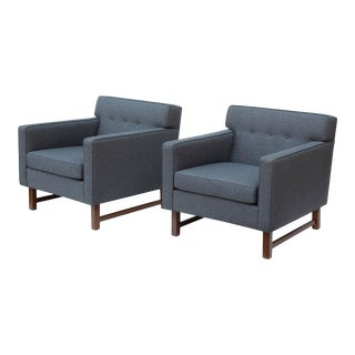 Tufted Midcentury Armchairs by Franklin Furniture, - a Pair For Sale