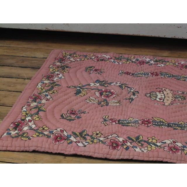 Blue Quilted Prayer Rug For Sale - Image 8 of 10