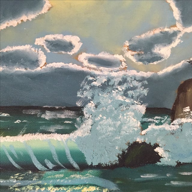 Ocean Acrylic Painting - Image 8 of 9