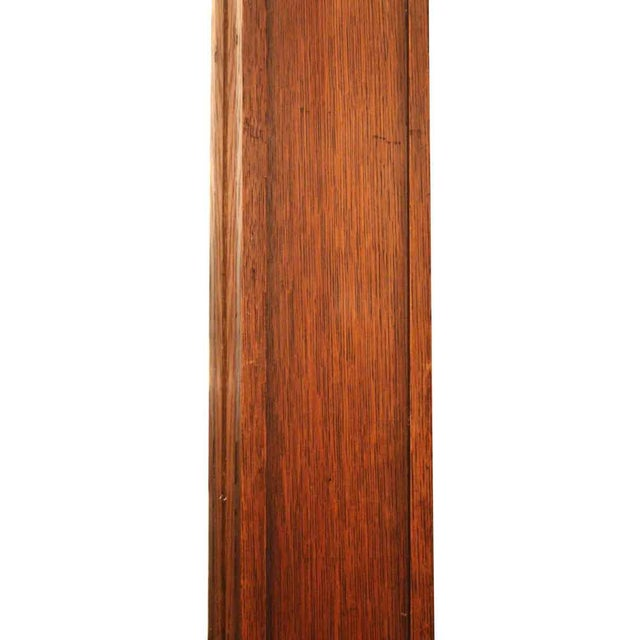 Carved Oak Floor Mirror For Sale - Image 5 of 5