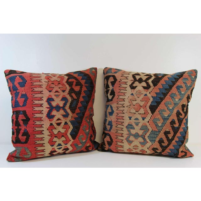 Turkish Vintage Pillow Covers - Pair - Image 2 of 6