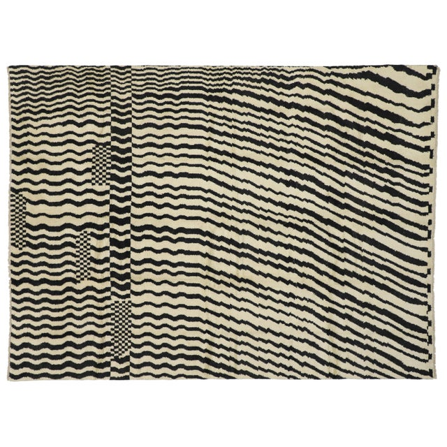 Contemporary Moroccan Area Rug- 10′3″ × 13′10″ For Sale - Image 9 of 10