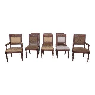 Henredon Regency Style Upholstered Dining Room Chairs - Set of 8 For Sale