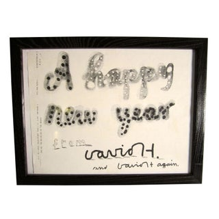 "David Hockney ""Happy New Year"" Facsimile For Sale"