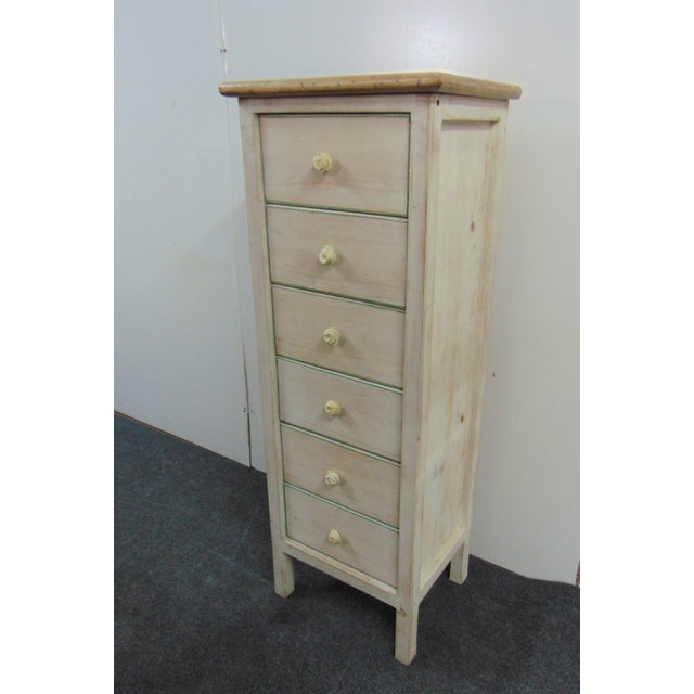 Paint Country Style White Distressed Painted Lingerie Chest For Sale - Image 7 of 7