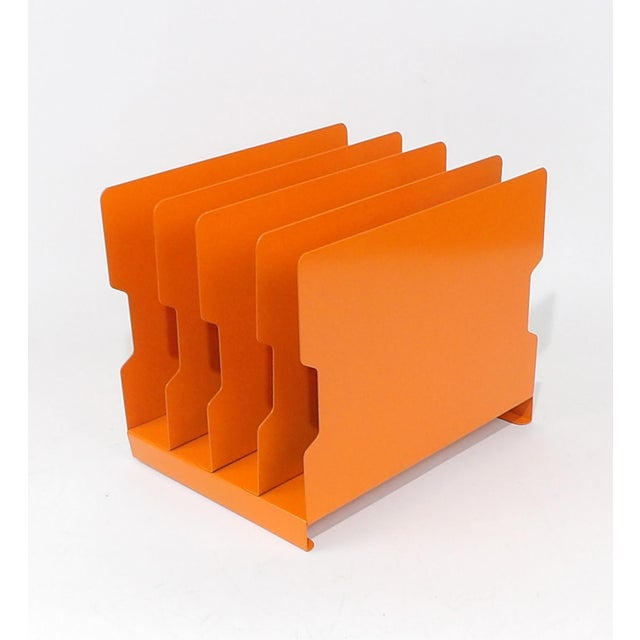 Orange Metal Desk Organizer - Image 9 of 9