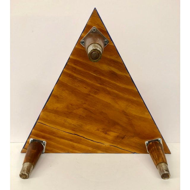 Reclaimed Wood Triangle Low Table For Sale - Image 9 of 13