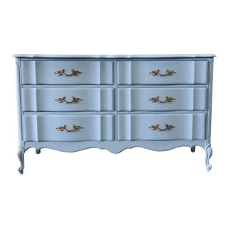 French Provincial Light Blue Lacquer Dresser For Sale