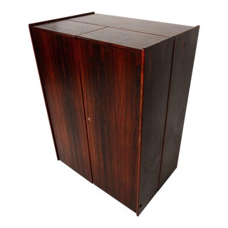 Rosewood Hideaway Desk Cabinet For Sale