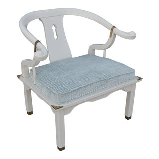 20th Century Chinoiserie Yoke Chair For Sale