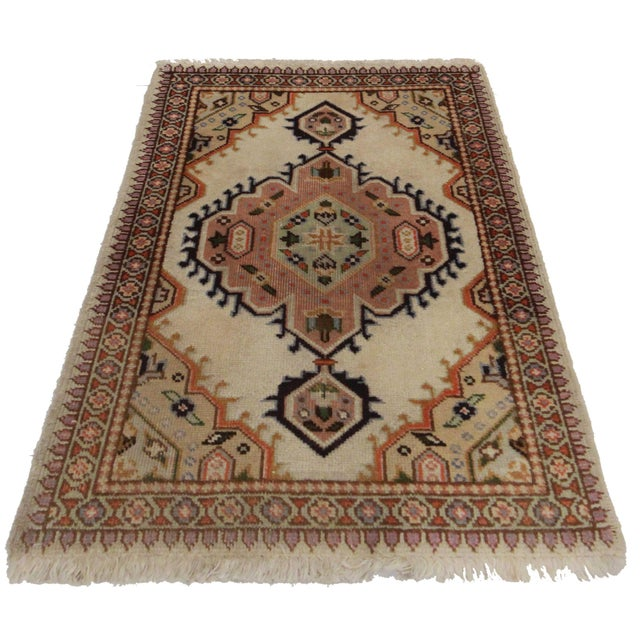 "RugsinDallas Antique Persian Tabriz Rug - 1′11″ × 2′ 10"" - Image 2 of 2"