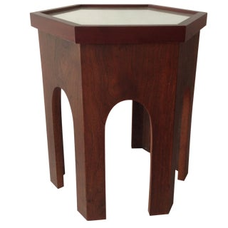 Moroccan-Style Teak Side Table