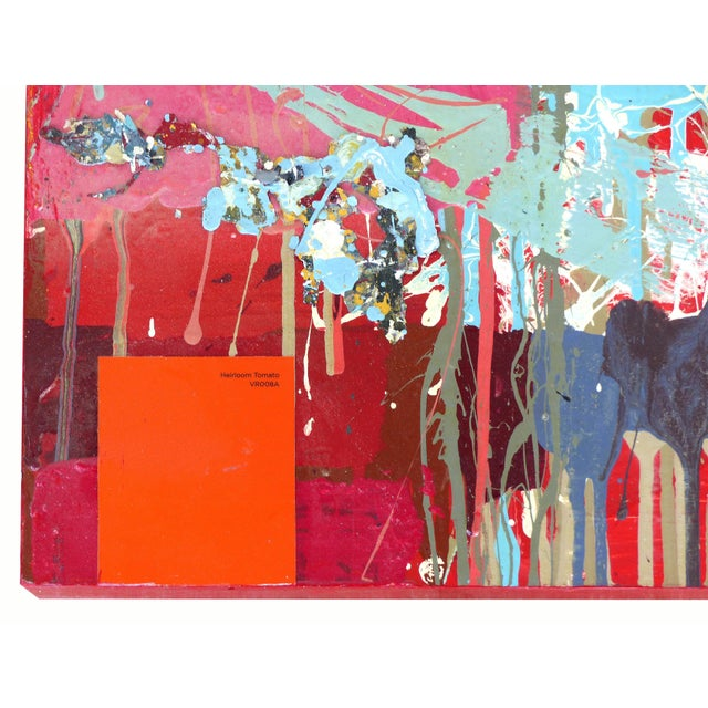 """William P. Montgomery Abstract Mixed Media Painting """"Cornucopia 2"""" on Wood For Sale - Image 9 of 13"""