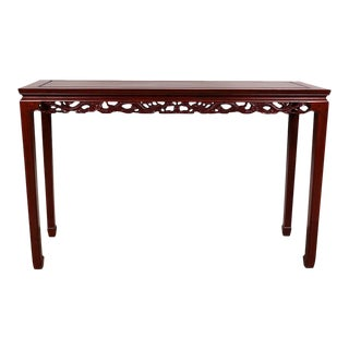 Vintage Chinese Rosewood Entry Console/Sofa Table For Sale