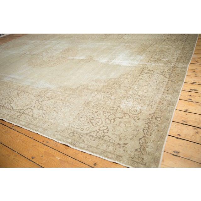 """Vintage Distressed Tabriz Carpet - 9' X 12'9"""" For Sale - Image 12 of 13"""