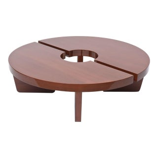 American Modern Mahogany Two Part Low Table, Harvey Probber For Sale