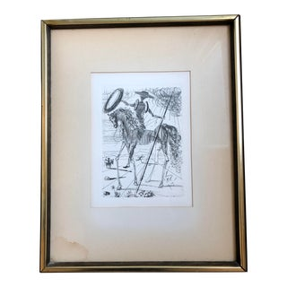 Limited Edition Etching of Don Quixote by Salvador Dali With Certificate of Authenticity For Sale
