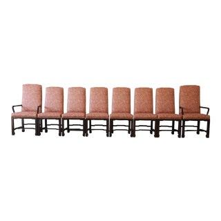 Mario Buatta for John Widdicomb Chinoiserie Dining Chairs - Set of 8
