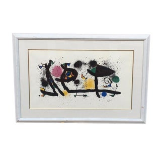 Joan Miro Plate Signed Lithograph by Joan Miro Vintage Piece in Great Condition