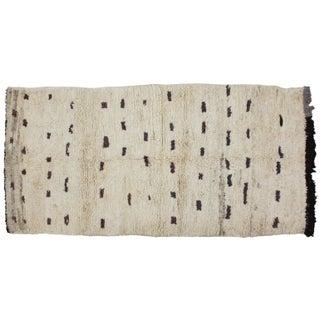 Moroccan Soft Wool Rug - 3′6″ × 7′6″
