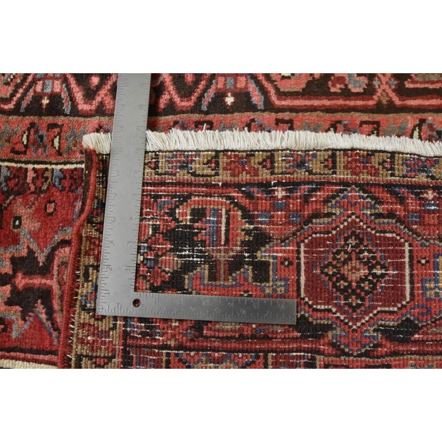 Vintage Persian Heriz Rug - 8'1'' X 11'3'' For Sale - Image 12 of 13