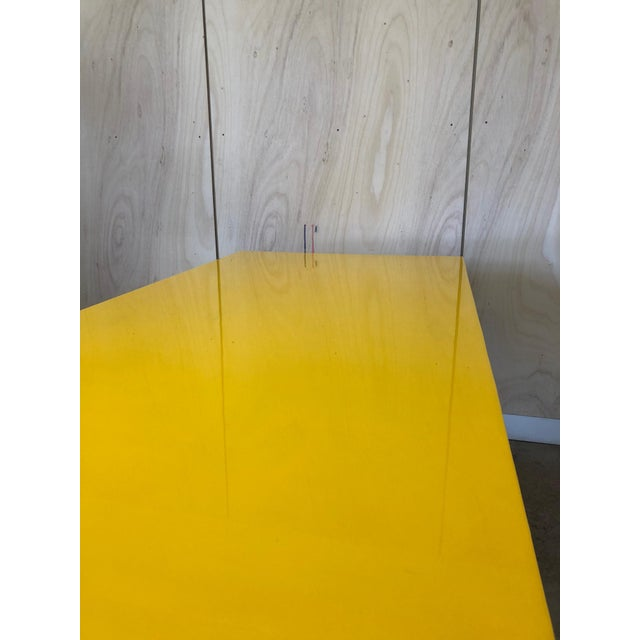 Admirable Industrial Yellow Epoxy Work Table On Casters Wheels Interior Design Ideas Tzicisoteloinfo
