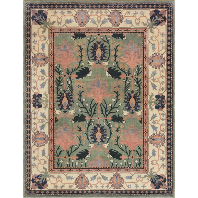 Arts & Crafts Mansour Handwoven Arts & Crafts Donegal Rug - 8′ × 10′2″ For Sale - Image 3 of 3