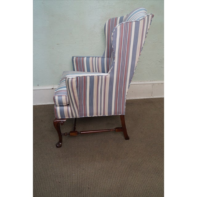 Hickory Chair Solid Mahogany Queen Anne Wing Chair - Image 3 of 10
