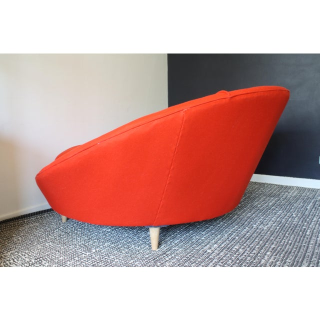 Orange Milo Baughman Round Chaise Lounge For Sale - Image 8 of 10