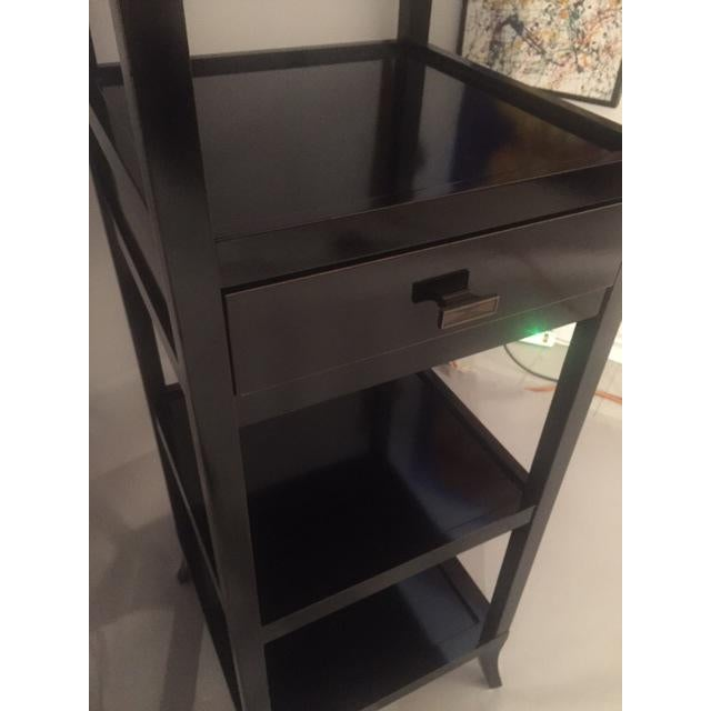 Contemporary Wood Black Lacquered Etagere Shelves - A Pair For Sale - Image 9 of 9