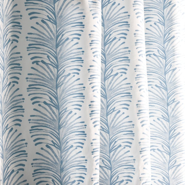 """Pepper Emma Sky 50"""" x 108"""" Curtains - 2 Panels For Sale - Image 4 of 5"""