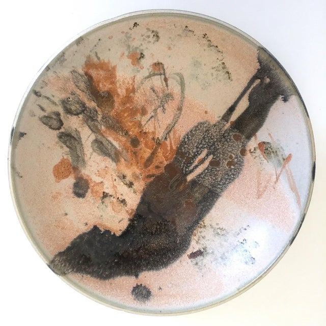 Ceramic Vintage Mid Century Modern Studio Pottery Abstract Expressionist Signed Ceramic Bowl For Sale - Image 7 of 13