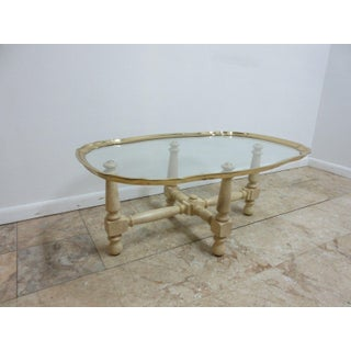 Baker French Regency Brass Rim Serving Tray Coffee Cocktail Table Preview