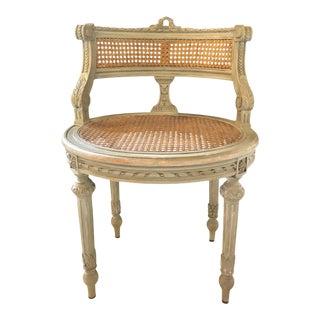 Swedish Louis XVI Style Boudoir Chair or Slipper Chair, 19th-20th Century For Sale