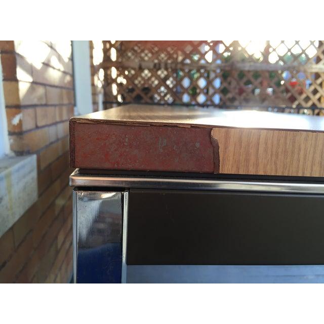 Steelcase Chrome and Oak Writing Desk - Image 7 of 11