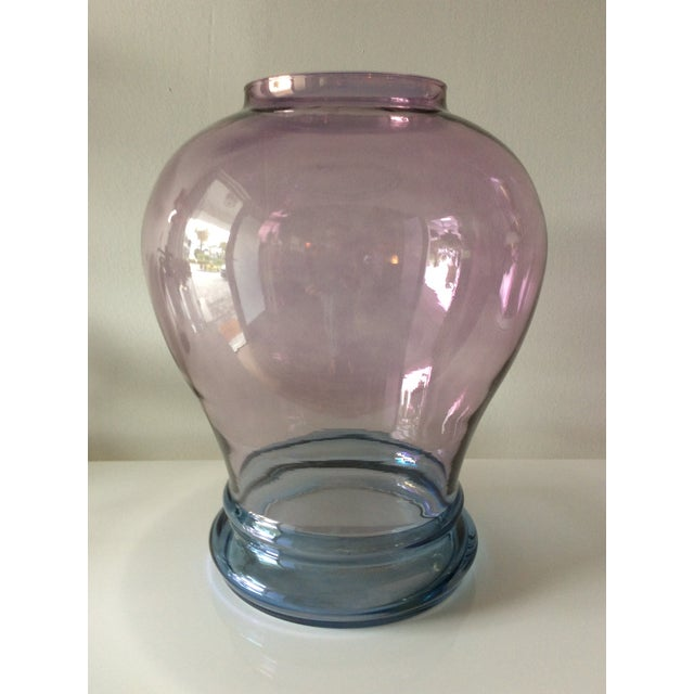 Glass Luminescent Glass Vase For Sale - Image 7 of 12