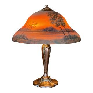 1920s Classique Sunset Landscape Table Lamp For Sale