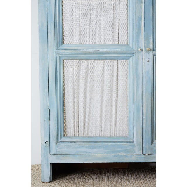 Country French Provincial Painted Armoire Cabinet For Sale - Image 9 of 13