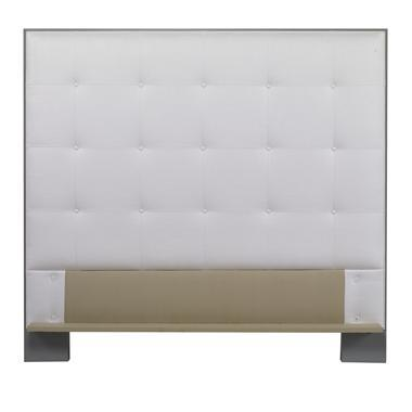 Traditional Century Furniture Marin Wood Trim Uph Headboard, Queen For Sale - Image 3 of 3