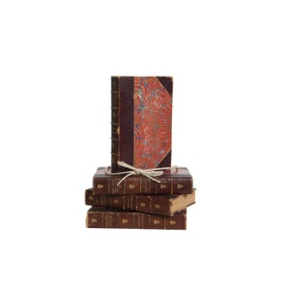 Antique Leather Shelley Gift Set, (S/4) For Sale