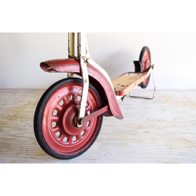 Vintage Antique Metal & Wood Child's Scooter For Sale In Detroit - Image 6 of 6