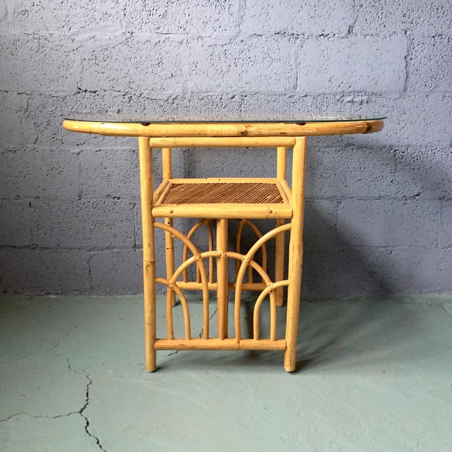 Vintage 1980s Bamboo Dining Set For Sale - Image 4 of 11