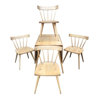 Paul McCobb Planner Group for Winchedon Maple Drop Leaf Dining Table and Chairs For Sale