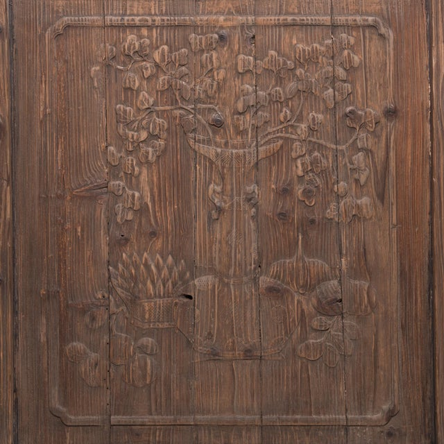 Asian Chinese Architectural Panel With Seasonal Fruit and Flora For Sale - Image 3 of 6