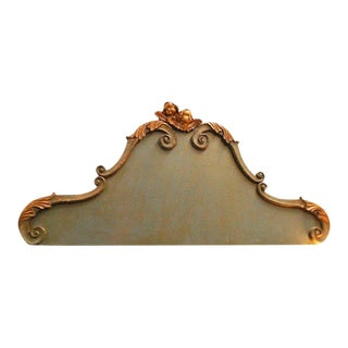 19th Century Italian Wooden Headboard For Sale