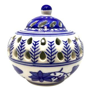 Vintage Potpourri Incense Porcelain Burner by Silvestri For Sale