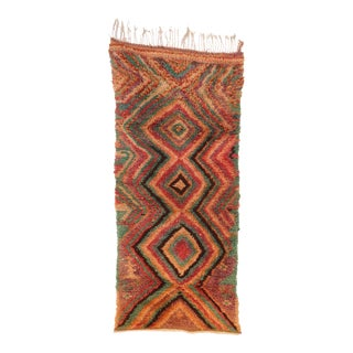"""Azilal Vintage Moroccan Rug, 3'3"""" X 7'4"""" For Sale"""