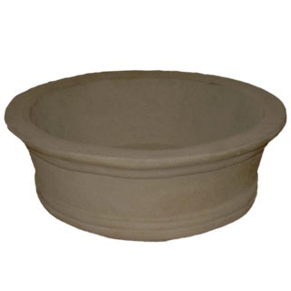 Orchid Pots, Low Profile in White Wash For Sale
